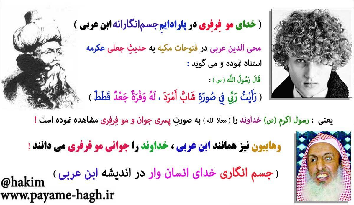 خدای مو فرفری در پارادایم جسم انگارانه ابن عربی